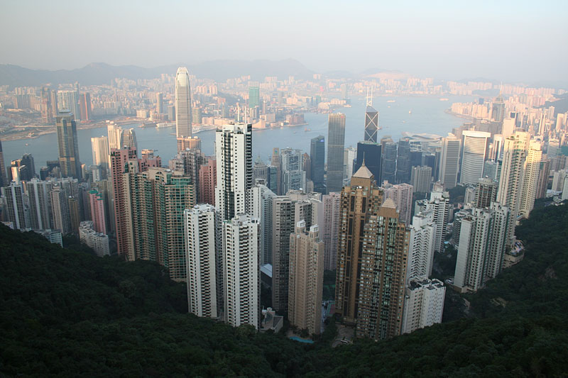 Widok z Victoria Peak, Hongkong