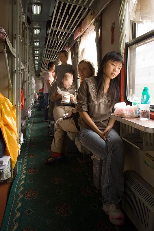 Wagon sypialny w chińskim pociągu, Chiny