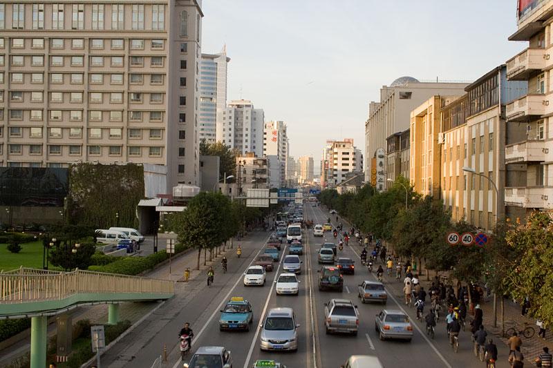 Ulice Kunmingu, Chiny