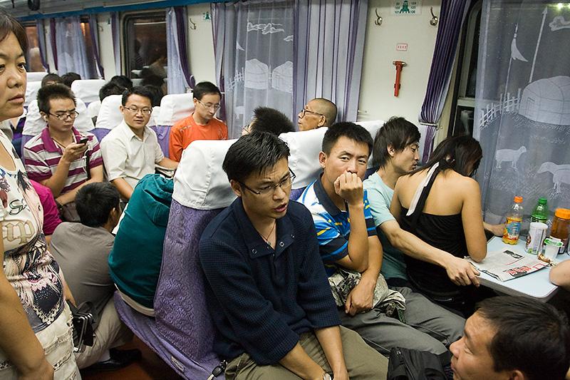 Przedział hard seat, K263, Chiny