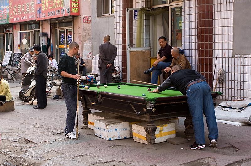 Bilard na ulicy, Hohhot, Chiny