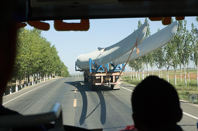 Śmigła elektrowni wiatrowej, Chiny