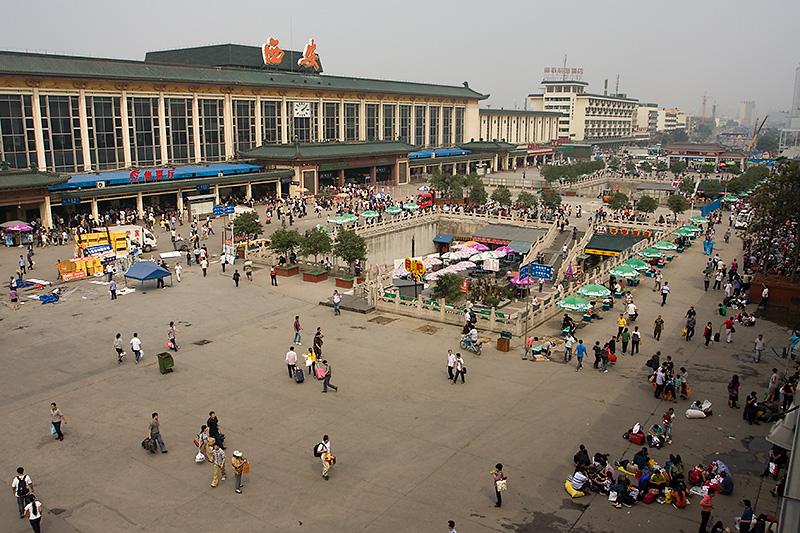 Dworzec kolejowy, Xian, Chiny