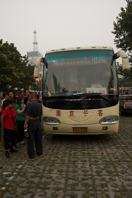 Autobus sypialny z zewnątrz, Luoyang, Chiny