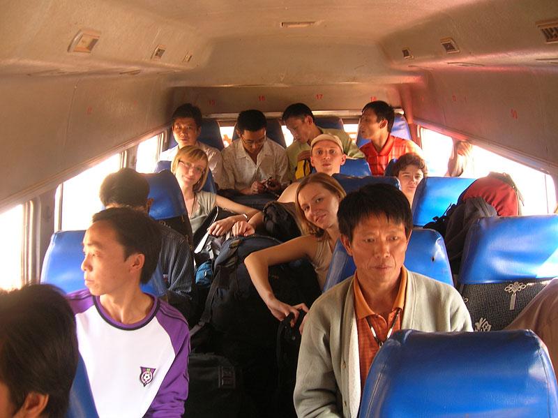 Autobus do Laosu, Chiny