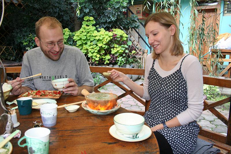 Płonąca zupa w Old Dali Inn (NO. 5), Dali, Chiny