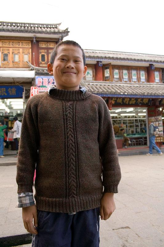 Chiński chłopiec, Dali, Chiny