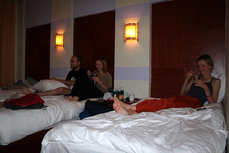 Pokój hotelowy Mengla, Chiny 2006