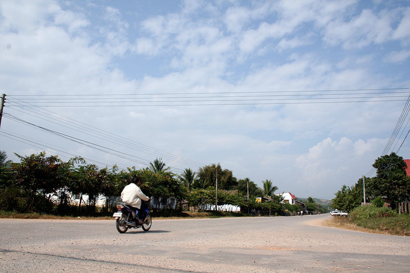 Ulica w Luang Nam Tha, Laos