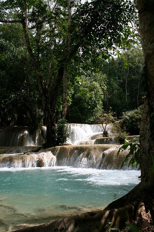 Wodospad Tad Sae niedaleko Luang Prabang, Laos