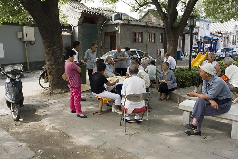 Gracze w mahjongg, Pekin, Chiny