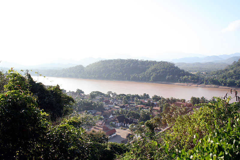 Luang Prabang z Phu Si, Laos