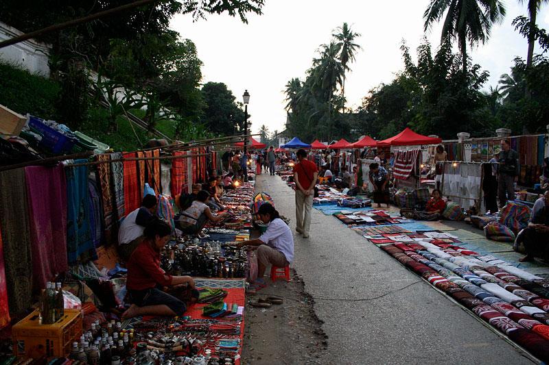 Night street market, Luang Prabang, Laos