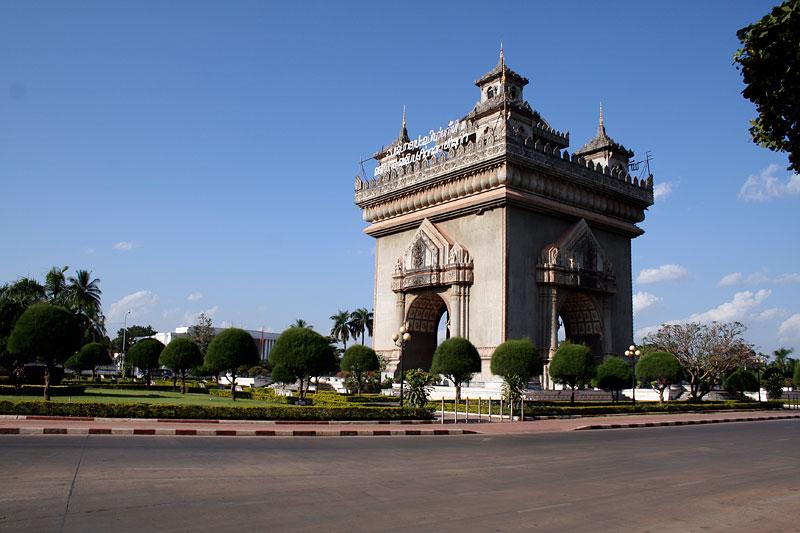 Patuxai, Łuk triumfalny w Vientiane, Laos