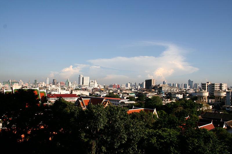 Widok z Golden Mountain, Bangkok, Tajlandia