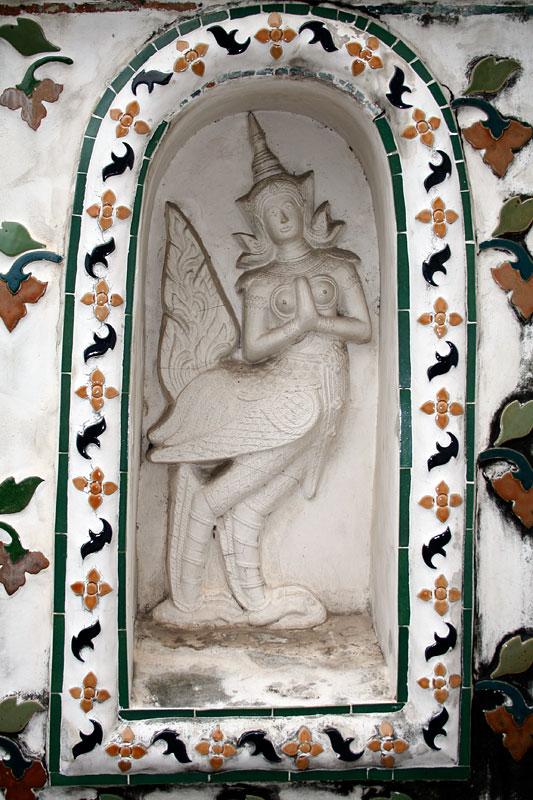 Ozdoba w Wat Arrarat, Bangkok, Tajlandia
