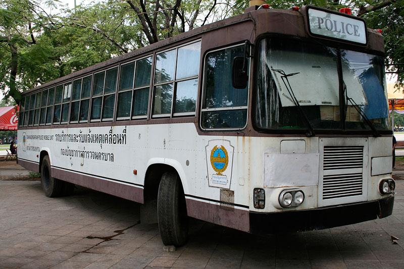 Autobus policyjny, Bangkok, Tajlandia